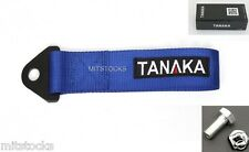 1 TANAKA UNIVERSAL BLUE RACING SPORTS TOW STRAP TOW HOOK 8000 LBS NEW