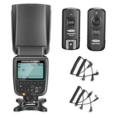 Neewer Lcd Display Flash Speedlite Kit with Wireless Trigger for Canon Nikon