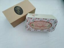 Daughter Pink Hinged Jewellery Box Gift with Sentimental Verse Laura Darrington