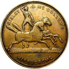 New York City Merchant Token Risley & McCollum Circus Hippodrome Horse Elephant