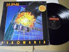 Def Leppard-Pyromania-Classic Rock Lp In Shrink-Hype Sticker-1St Press
