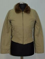 WOMENS ABERCROMBIE AND FITCH JACKET ZIP FUR LINED SIZE XS - S ( LABEL S) MINT
