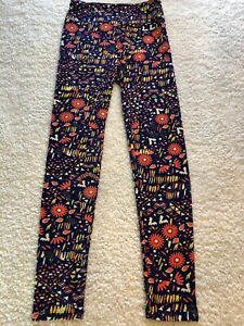 NEW with Tags LuLaRoe One Size Purple Floral Leggings