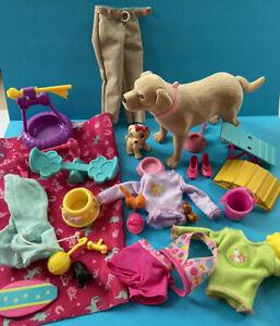 Barbie Mattel Fashion Dolls Clothes Puppy Play Pet Accessories Bundle Lot 1213