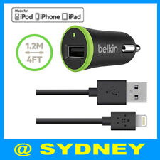 GENUINE BELKIN Boost UP Car Charger Lightning USB Sync Cable fo iPod iPhone iPad