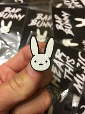Bad Bunny Merch – Hard Enamel Pin - Limited Edition - Free Bad Bunny Lanyard