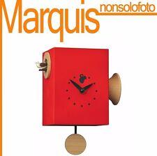 """orologio a cucù 804 """"trombettino"""" rosso carmino 3002 11 colori disp. Pirondini"""
