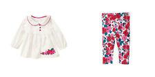 Gymboree Precious Prep Baby Girl 3-6 Months Apple Shirt Top & Floral Leggings