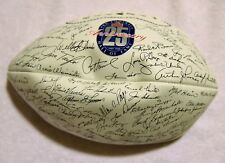 25th Anniversary Pro Football Hall of Fame Wilson Football Facsimile Autograph
