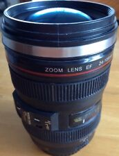 ZOOM LENS STAINLESS STEEL MUG WITH LID NOVELTY/FUN