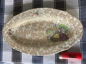 Lord Nelson Ware Crinoline Lady Platter, Elijah Cotton, Chintz Serving Plate