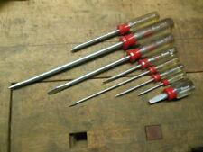 vintage Stanley Handyman slotted screwdriver set clean old workshop tools