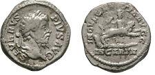 Ancient Rome Septimius Severus 202-210 AD SILVER DENARIUS  Dea Caelestis/lion