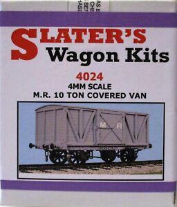 Slaters 4024 4mm Scale M.R. 10 Ton Covered Van Plastic Kit 00 Gauge - Pl