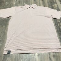 TURTLESON Mens Striped Tour Performance Golf Polo Shirt Size XL