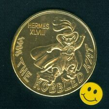 Cats Token - The Kobbled Kat - Puss In Boots - Gold Aluminum Doubloon 1988