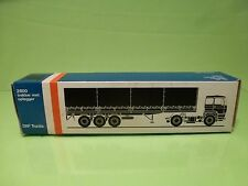 LION CAR 70 DAF TRUCKS 2800 + TRAILER - 1:50 GOOD * ONLY EMPTY BOX * (35)