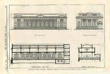 1911 Deptford Public Library, Selected Design Alfred Thomas, Plans