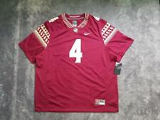 Men's Nike NCAA Florida State Seminoles Limited Game Jersey #4 sz 3XL Garnet