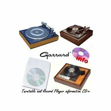 Garrard turntable record player service instruction owner manuals cd-r