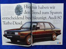 Audi 80 Turbo Diesel Typ B2 - Werbeanzeige Reklame Advertisement 1982 __ (353