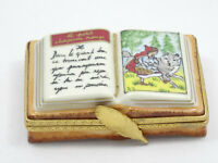 RARE HAND NUMBERED LITTLE RED RIDING HOOD BOOK LIMOGES TRINKET BOX #6/750