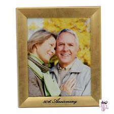 50th Wedding Anniversary Gift Golden Photo Frame Guest Sign Signature Present