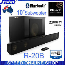 "Klipsch R-20B Soundbar (Sound Bar) Speakers with 10"" Wireless Subwoofer- Ex-Demo"