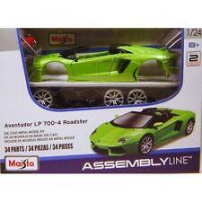 Maisto Assembly Line Lamborghini Aventador Roadster Die Cast Model Kit (1 24 SCA