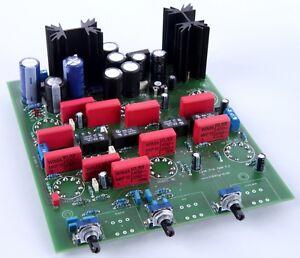 Röhren Pre Amp mit Abschaltbarer Klangreglung-Bausatz mit Röhren und Alps Potis