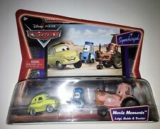 NEW Disney Pixar Cars Movie Moments 3-pack Luigi, Guido, Tractor UNOPENED IN BOX