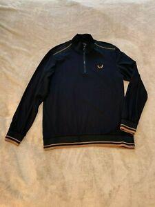 Nick Danger Men's Premium Flex Fit Long Sleeve 1/4 Zip Shirt Black SZ M NWT $68