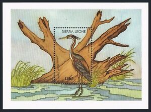 Sierra Leone 983-984,MNH.Michel Bl.78-79. Birds 1988.Saddlebill stork,Heron