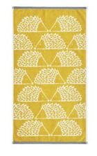 SCION SPIKE THE HEDGEHOG TWO HAND TOWELS MUSTARD - BNWT RRP £32