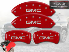 "2017-2020 ""GMC"" Acadia Front + Rear Red Engrave MGP Brake Disc Caliper Covers 4p"