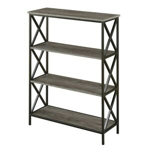 Convenience Concepts Tucson 4 Tier Bookcase, Weathered Gray - 161844WGY