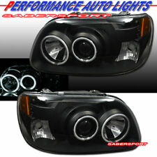 Set of 1pc Style Black Projector Headlights w/ Halo for 1995-2001 Ford Explorer