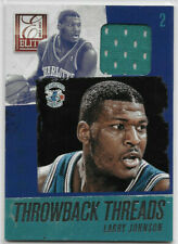 LARRY JOHNSON 2013-14 Panini ELITE Throwback Threads JERSEY HORNETS Game-Used