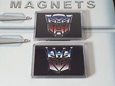 Transformers Fridge Magnet Set. Autobot and Decepticon Logos (G1 Cartoon Stye)