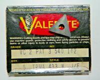 5 PIECES, VALENITE, TPMA 433W VC2 CARBIDE INSERTS,       H598