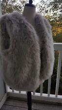 Women's Gap Faux Fur Vest Sz L (51114)