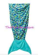 NWT Justice Girl Mermaid Tail Blanket Sleeping Bag Purple Blue Sleepover Gift!