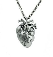 Anatomical Heart Pendant Necklace Realistic Medical Oddities Gothic Love Punk
