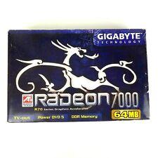 GIGABYTE Radeon 7000 DirectX 7 GV-R7064T 64MB 64-Bit DDR AGP 2X/4X Video Card