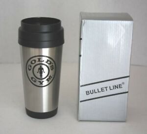 NEW Golds Gym workout Thermos Cup Tea Coffee Water Cup Bottle Stainless Steel