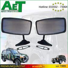 2 Stück Oldtimer Außenspiegel klein mit Metallfuß schwarz, für KFZ oder Motorrad