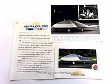 1988 GM Sunraycer Solar Car Original Factory Photo and Sales Card