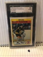 1982-83 o-pee-chee#20 BARRY PEDERSON ROOKIE CARD SGC 80 EX/NM 6