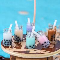 3Pcs 1:12 Dollhouse miniature milk tea cups mini toys doll house decorat~OJ