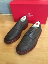 Grenson Archie Brown Leather Trple Welt Brogue Shoe Uk 9, RRP£470